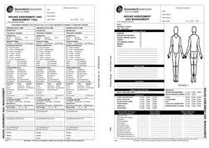 wound care plan template skin wound assessment forms pictures to pin on