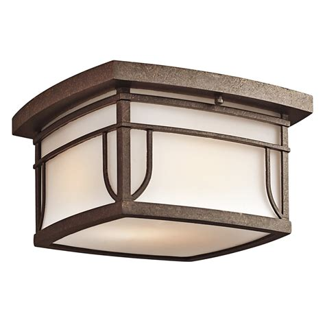 Outdoor Flush Mount Light Fixtures Kichler Lighting 49153agzs Transitional Outdoor Flush Mount Ceiling Light Kch 49153agzs