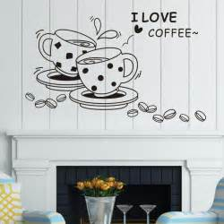 coffee wall stickers i love coffee wall decal removable cute coffee cup wall