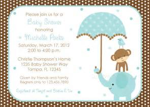 Baby Shower Invitations Templates For Boys by Polka Dot Elephant Baby Shower Invitation Boy Design