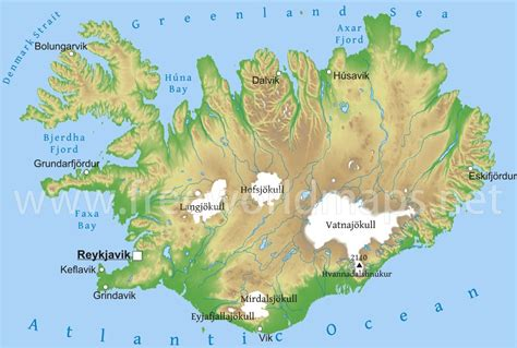 5 themes of geography iceland iceland physical map