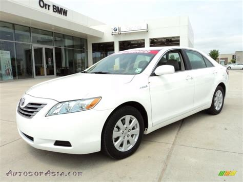 Toyota Camry 2009 White 2009 Toyota Camry Hybrid In White 089215 Autos