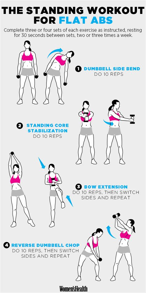 standing ab exercises video