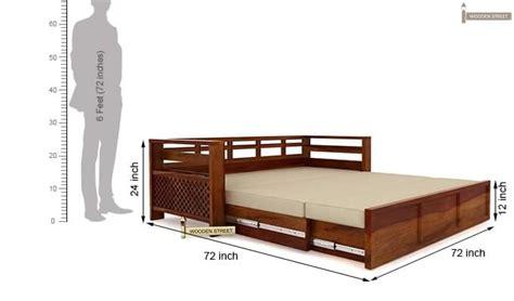 sofa cum bed size vigo sofa cum bed king size honey finish