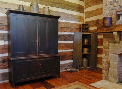 Central Kentucky Log Cabin Primitive Kitchen Eclectic Primitive Kitchen Furniture