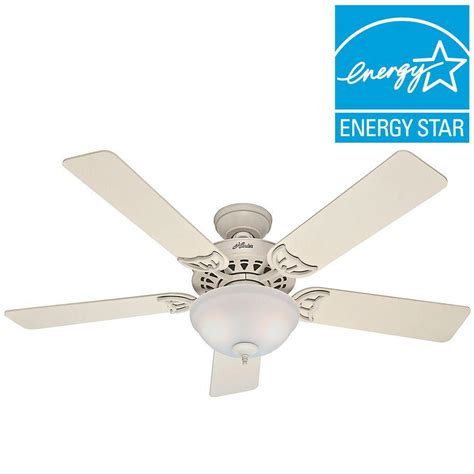 hunter light kits for ceiling fans home depot hunter sonora 52 in indoor white ceiling fan french