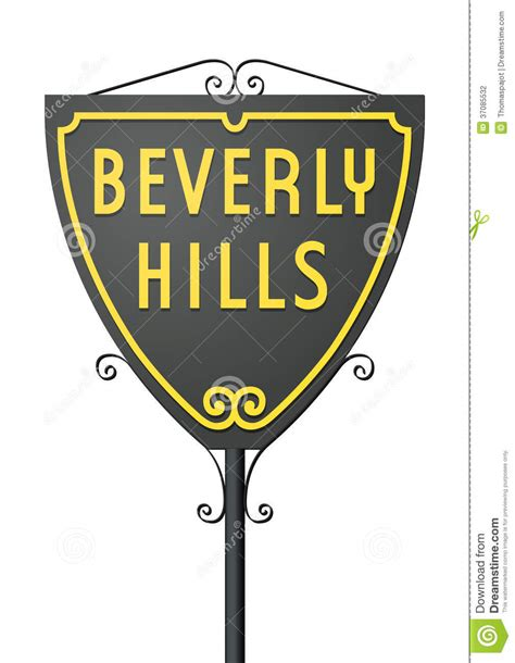 beverly hills sign beverly hills sign stock photography image 37085532