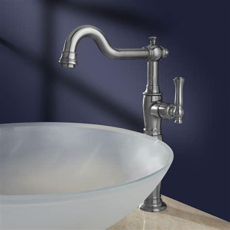 quentin 1 handle monoblock vessel bathroom faucet