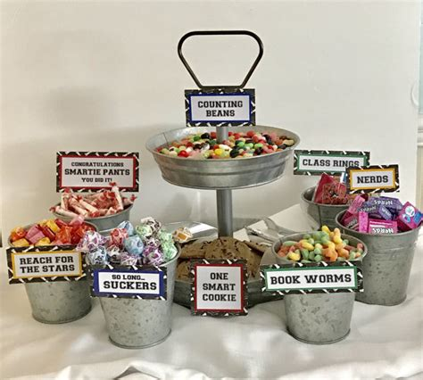 graduation candy signs set of 9 candy bar sign candy