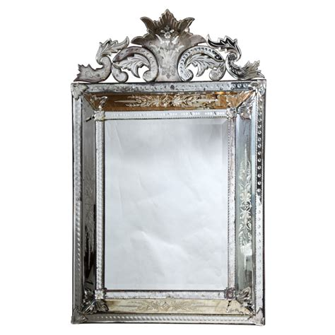 Antique Venetian Glass Mirror Etched Venetian Glass Mirror On Antique Row West Palm
