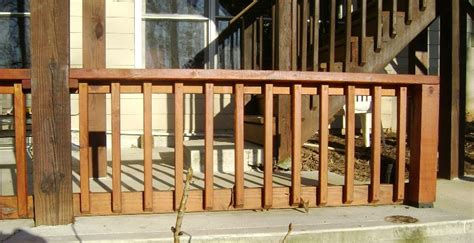 building a banister how to build a 2x4 deck rail on a concrete patio a deck