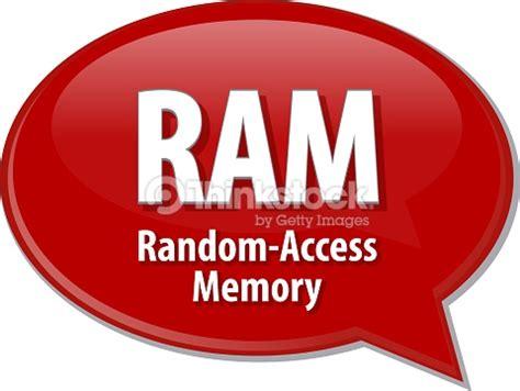 ram acronym definition speech illustration stock