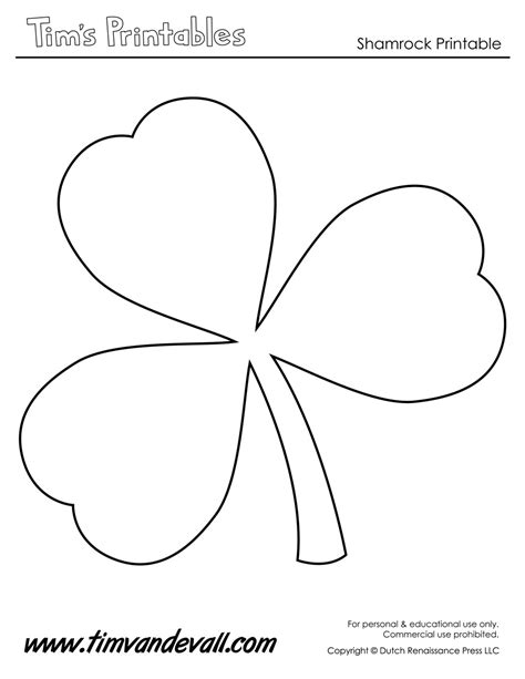 printable shamrock templates printable shape templates