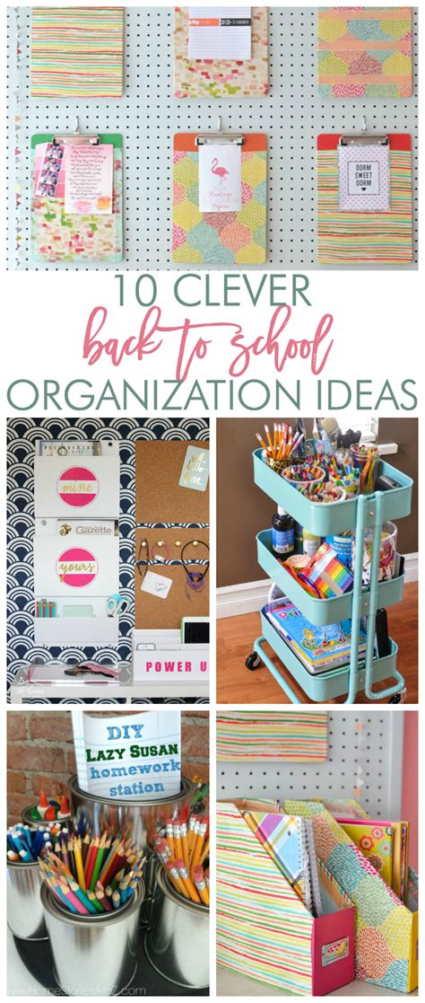 10 organizing ideas home stories a to z 10 great ideas for homework stations and back to school