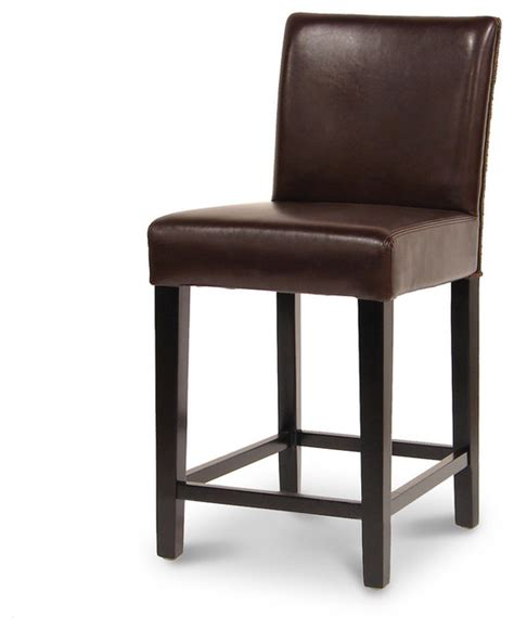 brown bar stools leather hudson leather woven 24 barstool dark brown