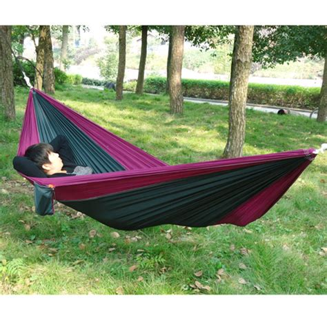 Hammock For Two Portable Outdoor Traveling Cing Parachute Fabric
