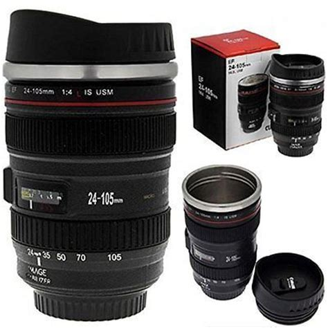 24 units of coffee mug stainless steel with handle at mugs camera lens cup 24 105 coffee travel mug thermos