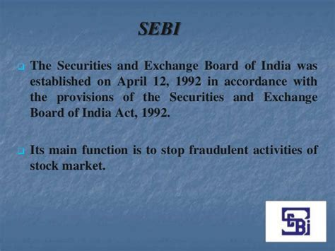 section 12 of the securities exchange act of 1934 sebi presentation