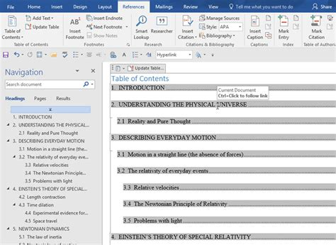How To Add Table Of Contents In Word 2010 by How To Create A Table Of Contents In Microsoft Word