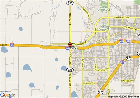 comfort directions map of comfort inn and suites amarillo