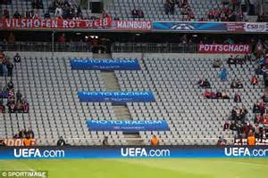 Allianz Arena Away Section by Bayern Munich 3 1 Manchester United 4 2 Agg Match Report