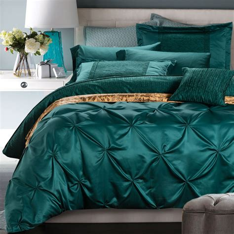 solid teal comforter dark green ruffle solid silk duvet cover bedding sets ebay