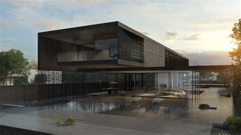 Home Design For Architect Black Concrete House Pitsou Kedem