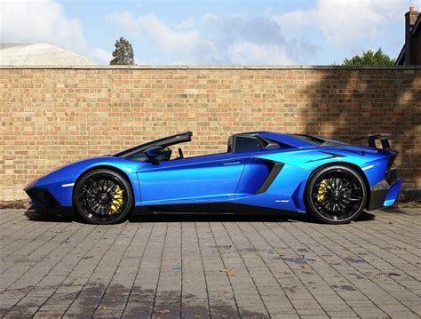 lamborghini aventador sv roadster blue 2016 66 lamborghini aventador sv roadster for sale blue nethuns automobiles