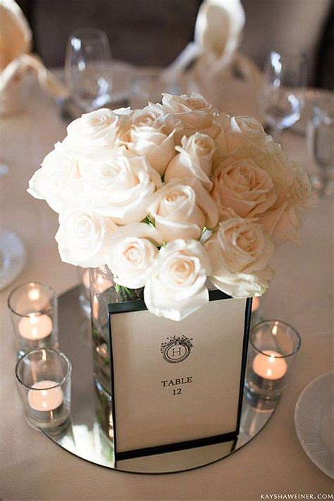 simple table centerpieces best 25 mirror wedding centerpieces ideas on