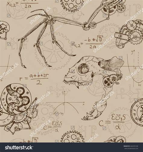 doodle release demons seamless background skull stock