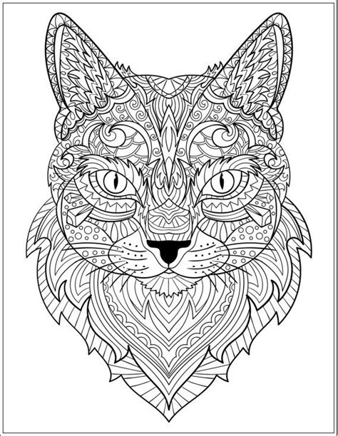 intricate cat coloring page sensational cat coloring pages for adults 631 best adult