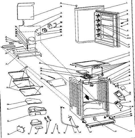 Danby Refrigerator Parts Model Dar604w Sears Partsdirect