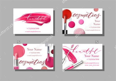 Cosmetics Business Cards Templates by 29 Artist Business Card Templates Free Premium