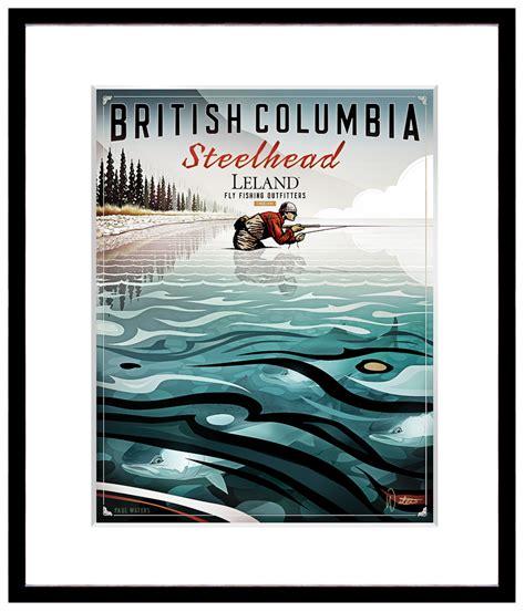 printable fish poster original fly fishing posters paul waters