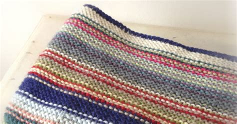 how to finish a knitted blanket a world of imagination knitted stripy baby blanket