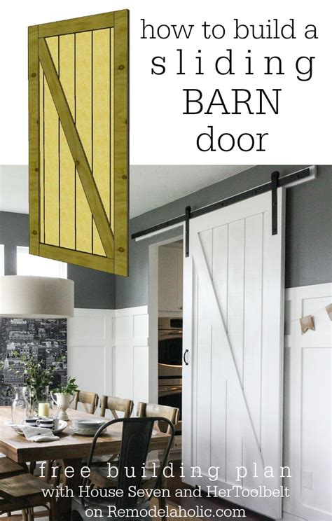 How To Build A Barn Style Door Remodelaholic Simple Diy Barn Door Tutorial