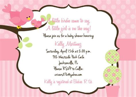 Bird Baby Shower Invitations by Bird Baby Shower Invitation Customized And Printable