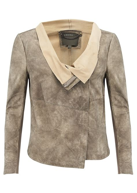 muubaa draped leather jacket muubaa elbe drape leather jacket desert