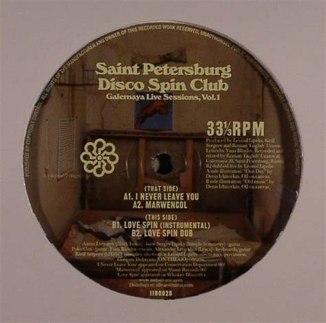 St Petersburg Records Petersburg Disco Spin Club Galernaya Live Sessions