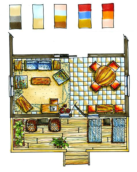 color floor plans watercolor floorplan google search floorplan design