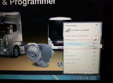 scania sdp3 vci3 truck scanner usb wifi connection