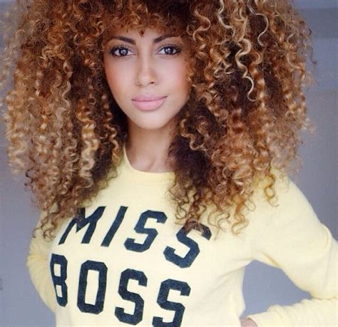 curly brown hair looking stringy bwatuwant golden brown highlights curly big afro curly