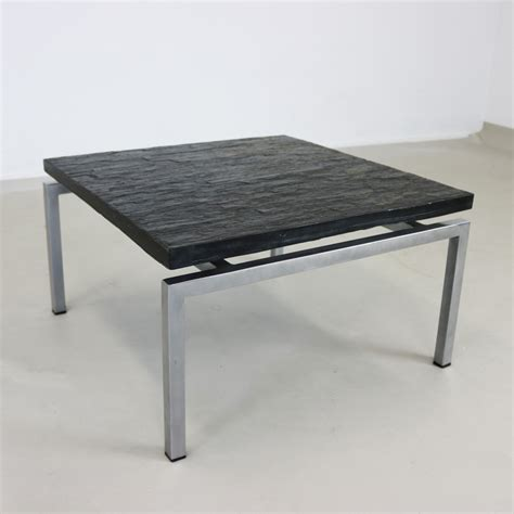 slate top side table special side coffee table with slate top 1960s 68733