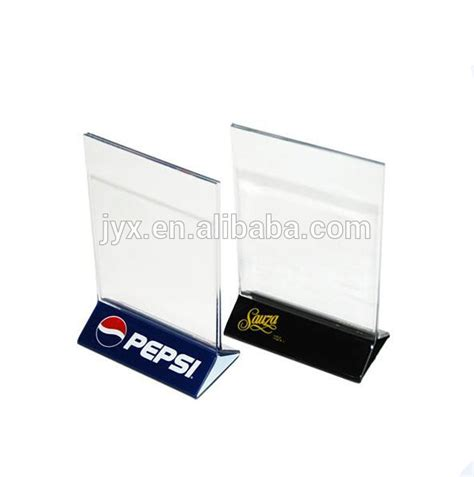 table menu card holder clear acrylic plastic menu holder table tent with logo
