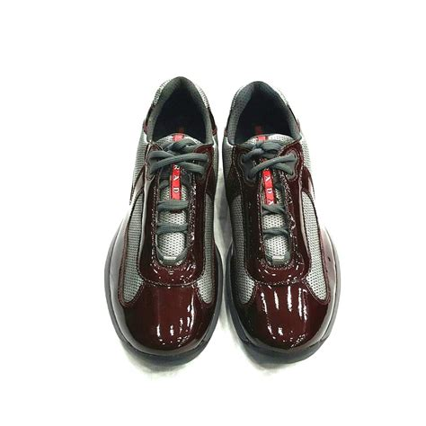 mens patent leather sneakers prada mens americas cup shoe sneaker 100 authentic