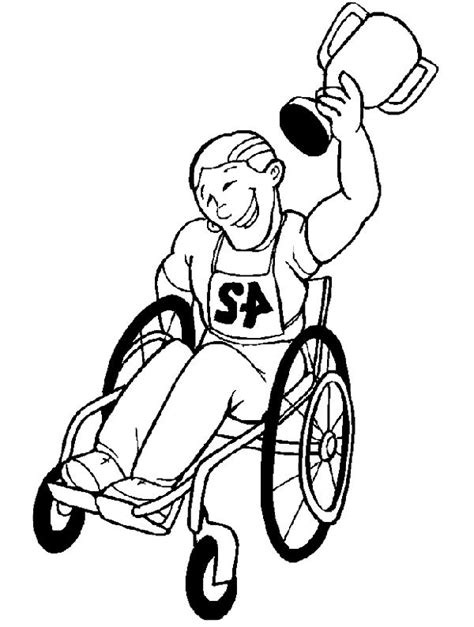 How To Draw A Disabled Person disabilities who raced the disabled children coloring