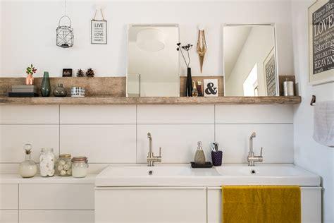 badezimmer ablage dekorieren herbstliche baddekoration depot