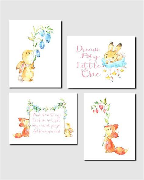 Nursery Decorations Pinterest Woodland Nursery Prints Baby Nursery Fox Bunny Favorite Quotes For Pinterest
