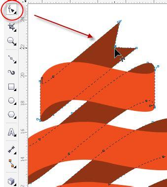cara bikin pita di corel menggambar pita dengan extrude dalam sekejap di coreldraw