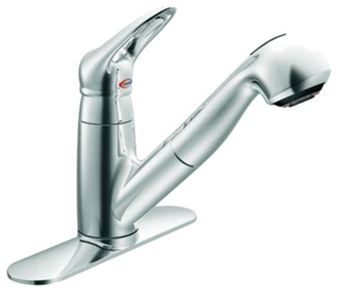 kitchen and bathroom faucets moen 67570c salora series single handle pull out kitchen
